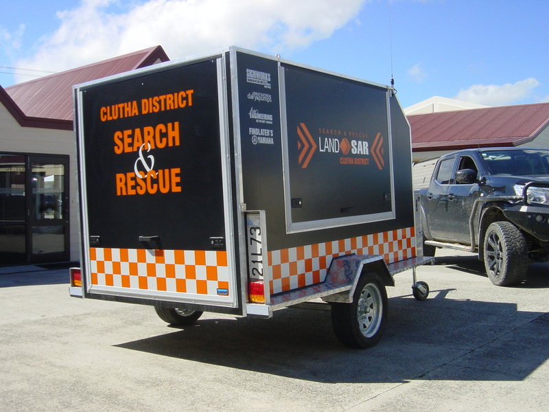 Novembert 2018 New Clutha District Search and Rescue Trailer